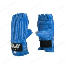 Перчатки снарядные Е-040, шингарды, к/з Blue