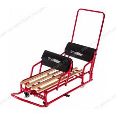Санки-трансформер для двойни с колесиками и толкателем Small Rider Snow Twins 2 Red