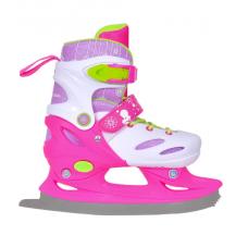 Коньки детские раздвижные ACTION  Girl бело-розовые