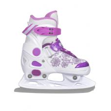 Коньки детские раздвижные  ACTION  Girl бело-фиолетовые