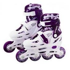 Раздвижные роликовые коньки для детей hardboot фиолетовые, Abec5, Размер, 31-34, AJIS-1604 ATEMI