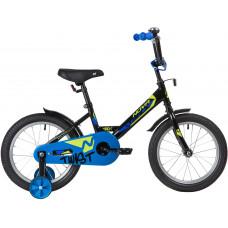 """Велосипед NOVATRACK 16"""" TWIST черный, тормоз нож, крылья корот, полная защ.цепи"""