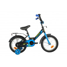 """Велосипед NOVATRACK 14"""" FOREST черный, сталь, тормоз нож, крылья, багажник, полная защ.цепи"""