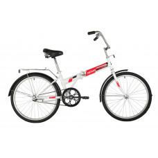 """Велосипед NOVATRACK 24"""" складной, белый, TG,тормоз нож, двойной обод, багажник, сидение комфорт"""