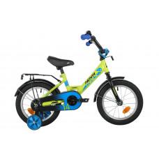 """Велосипед NOVATRACK 14"""" FOREST зеленый, сталь, тормоз нож, крылья, багажник, полная защ.цепи"""