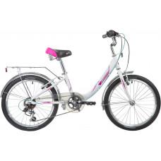 "Велосипед NOVATRACK 20"", ANCONA, белый, алюм., 6-скор, TY21/RS35/SG-6SI, V-brake"