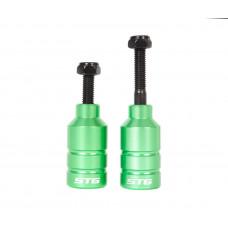 Пеги для трюкового самоката с осью, 22.2 мм, алюм., зеленый, 2шт.