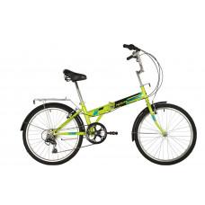 """Велосипед NOVATRACK 24"""" складной,зеленый, TG, 6скор. Shimano TY-21, тормоз V-brake.,сидение комфорт,"""