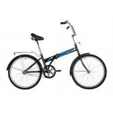 """Велосипед NOVATRACK 24"""" складной, черный, тормоз ножной, багажник, крылья"""