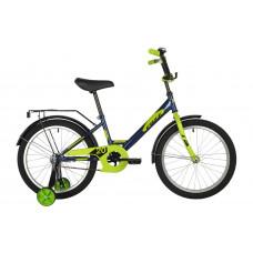 """Велосипед FOXX 20"""" SIMPLE синий, сталь, тормоз нож, крылья, багажник"""