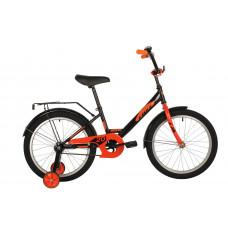 """Велосипед FOXX 20"""" SIMPLE черный, сталь, тормоз нож, крылья, багажник"""