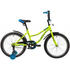 "Велосипед NOVATRACK 20"" NEPTUNE салатовый, тормоз нож, крылья корот, защита А-тип"