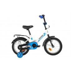 """Велосипед NOVATRACK 14"""" FOREST белый, сталь, тормоз нож, крылья, багажник, полная защ.цепи"""