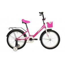 """Велосипед FOXX 20"""" SIMPLE розовый, сталь, тормоз нож, крылья, багажник, перед.корзина"""
