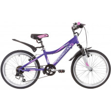 "Велосипед NOVATRACK 20"", NOVARA, фиолетовый, алюм., 6-скор, TY21/TS38/SG-6SI, V-brake"