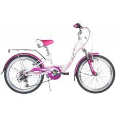 "Велосипед NOVATRACK 20"", ANGEL, белый, алюм., 6-скор, TY21/RS35/SG-6SI, V-brake"