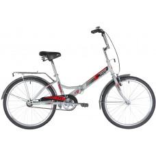 """Велосипед NOVATRACK 24"""" складной, TG, серый, тормоз нож, двойной обод, багажник, сидение комфорт"""