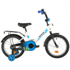 """Велосипед NOVATRACK 16"""" FOREST белый, сталь, тормоз нож, крылья, багажник, полная защ.цепи"""