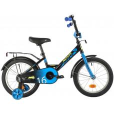 """Велосипед NOVATRACK 16"""" FOREST черный, сталь, тормоз нож, крылья, багажник, полная защ.цепи"""