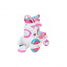 Раздвижные ролики-квады для детей HUDORA My First Quad Girl, розовые