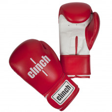 Перчатки боксерские Clinch Fight Cкрасно/белые 8 ун