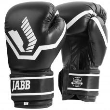 Перчатки бокс.(иск.кожа) Jabb JE-2025 черный 12ун.
