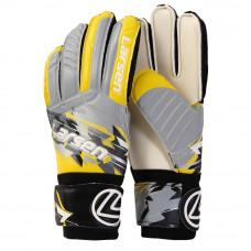 Перчатки вратарские Larsen Agressive серый/жёлтый р9