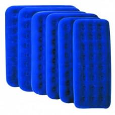 Кровать надувная квадратная Bestway флок 67004 синий 203х183х22см