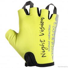 Перчатки велосипедные детские Vinca VG 965 Night Vision kids неоновые