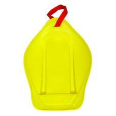 Санки-ледянки с ручкой-ремнем Престиж оттенок жёлтый