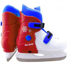 Коньки ледовые раздвижные Slide RED