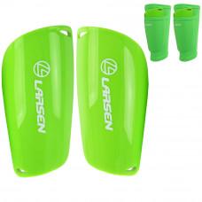 Щитки футбольные для гетр с карманами Larsen NT600лайм