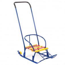 Санки Метеор-3005/Мишутка 5 с колесиками синий