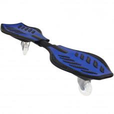 Скейтборд балансирующий Larsen WAVE BOARD черный/голубой (85х23 см)