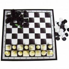 Набор 3 в(шашки,шахматы,нарды) 37*см 101