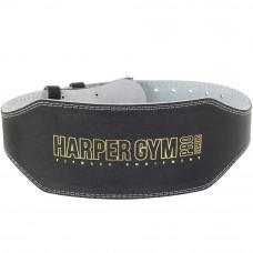 Пояс для т/а (широкий)  Jabb/Harper Gym  JE-2622 черный нат.кожа L