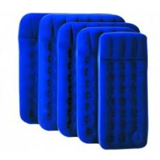 Кровать надувная Bestway местн. флок, ножной насос 67223N синий 185х76х22см