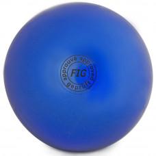 Мяч для худ. гимнастики (см, 400 гр)  синий GC 01