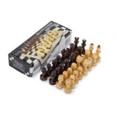 Шахматы лак. без доски, d=2,4 см, высота 4-7 см, Р-7