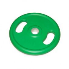 Диск обрезиненный с ручками NTд50мм зеленый