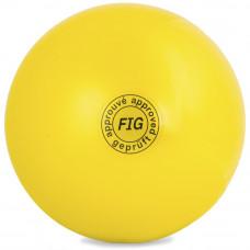 Мяч для худ. гимнастики (см, 400 гр)  жёлтый GC 01