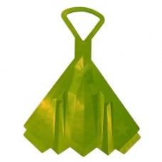 Санки-ледянки Самолет оттенок зеленый