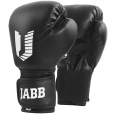 Перчатки бокс.(иск.кожа) Jabb JE-202Jr 2черный 4ун.