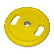 Диск обрезиненный с ручками NTд50мм желтый