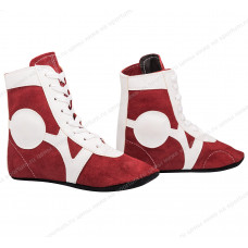 Обувь для самбо Rusco SM-0101 замша Red