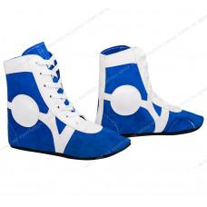 Обувь для самбо Rusco SM-0101 замша Blue