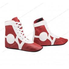 Обувь для самбо Rusco SM-0102 кожа Red