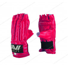 Перчатки снарядные Е-040, шингарды, к/з Red