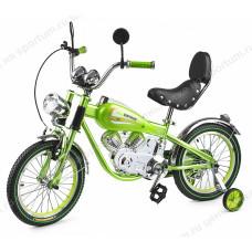 Велосипед-мотоцикл детский Small Rider Motobike Vintage Green
