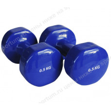 Гантель виниловая HKDB115-N 0,5 кг Blue